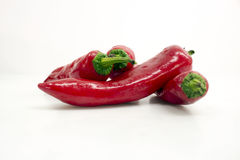 Peperoncino rosso e peperoni Fotografia Stock