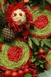 Peperoncino rosso e verdura tailandesi per la cucina tailandese Immagine Stock