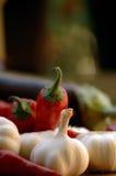 Peperoncino rosso ed aglio Fotografie Stock Libere da Diritti
