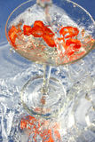 Peperoncino rosso Martini fotografia stock libera da diritti