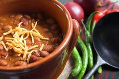 Peperoncino rosso messicano con formaggio Fotografia Stock Libera da Diritti