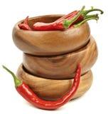 Peperoncino rosso rosso caldo Fotografie Stock