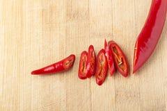 Peperoncino rosso rosso fresco Immagini Stock Libere da Diritti