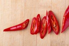 Peperoncino rosso rosso fresco Fotografie Stock Libere da Diritti