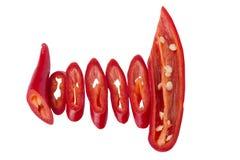 Peperoncino rosso rosso fresco Fotografia Stock