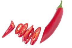 Peperoncino rosso rosso fresco Fotografie Stock