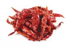 Peperoncino rosso rosso su bianco Fotografia Stock