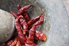 Peperoncino rosso secco fotografie stock libere da diritti