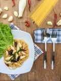 Peperoncino rosso secco spaghetti Fotografia Stock