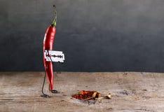 Peperoncino rosso tagliente fotografia stock