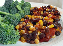 Peperoncino rosso vegetariano fotografia stock
