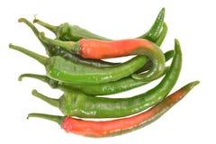 peperoncino rosso verde Fotografie Stock