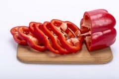 Peperone affettato Immagine Stock