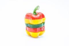 Peperone dolce affettato Fotografie Stock
