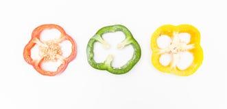 Peperone dolce affettato Fotografia Stock