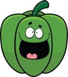 Peperone dolce del fumetto felice Fotografia Stock
