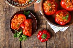 Peperone dolce farcito con le verdure immagini stock libere da diritti