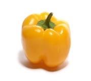 Peperone dolce giallo isolato su bianco Immagini Stock Libere da Diritti