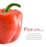 Peperone dolce isolato sul bianco Fotografie Stock