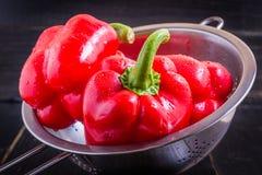 Peperone dolce rosso Fotografia Stock