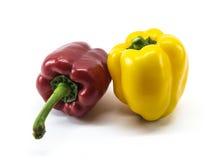 Peperone dolce rosso e giallo Immagine Stock