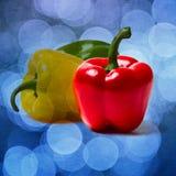 Peperone dolce rosso - quadrato - strutturato Fotografia Stock Libera da Diritti
