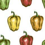 Peperone dolce senza cuciture Fotografia Stock