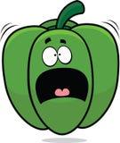 Peperone dolce spaventato del fumetto Immagine Stock Libera da Diritti