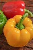 Peperone dolce verde e giallo rosso Fotografia Stock Libera da Diritti