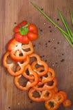 Peperone, spezie e cipolla dolci Fotografia Stock