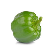 Peperone verde dolce isolato su fondo bianco Immagine Stock
