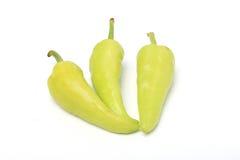 Peperone verde isolato su un fondo bianco Fotografie Stock Libere da Diritti