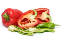 Peperoni affettati Immagini Stock Libere da Diritti
