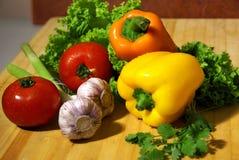 Peperoni & aglio Immagini Stock