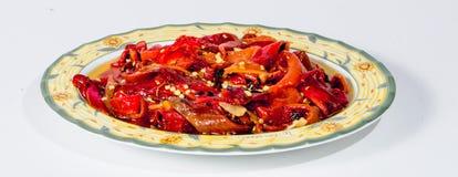 Peperoni arrostiti (tradizione siciliana) 2 Fotografia Stock