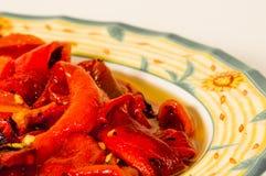 Peperoni arrostiti (tradizione siciliana) 2 Fotografia Stock Libera da Diritti