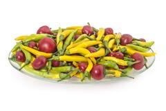 Peperoni caldi Fotografie Stock