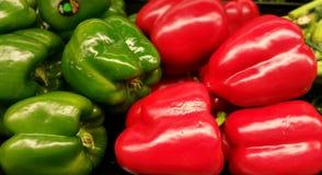 Peperoni, colore rosso, colore giallo, arancio, verde Fotografia Stock