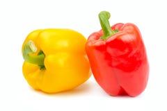 Peperoni, colore rosso, colore giallo, arancio, verde Immagini Stock
