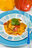 Peperoni cotti Fotografia Stock Libera da Diritti