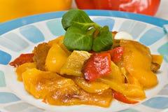 Peperoni cotti Fotografie Stock