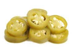 peperoni del jalapeno su fondo bianco Immagine Stock Libera da Diritti