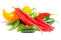 Peperoni di peperoncini rossi Fotografia Stock Libera da Diritti
