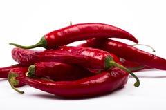 Peperoni di peperoncini rossi freschi Fotografia Stock