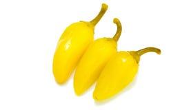 Peperoni di peperoncini rossi gialli Immagine Stock Libera da Diritti