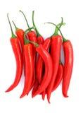 Peperoni di peperoncini rossi rossi Immagini Stock