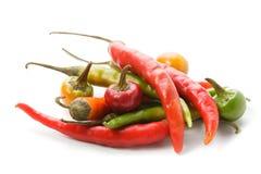 Peperoni di peperoncini rossi roventi Fotografie Stock