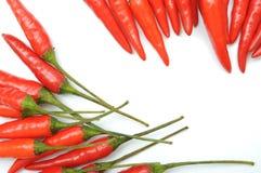 Peperoni di peperoncini rossi roventi Immagine Stock