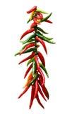Peperoni di peperoncini rossi roventi Fotografie Stock Libere da Diritti