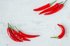 Peperoni di peperoncini rossi roventi fotografia stock